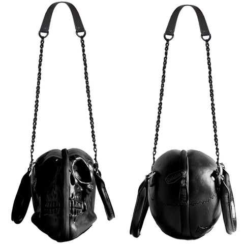 Skull Collection Hand bag Black