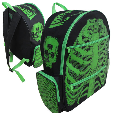 Green Ribcage Back Pack