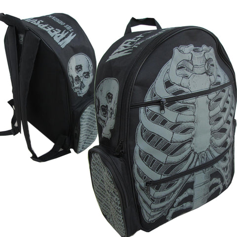 White Ribcage Back Pack