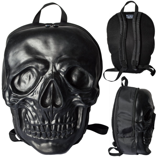 Skull Backpack Black