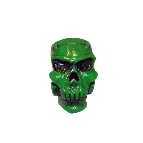 Green Monster Skull Brooch