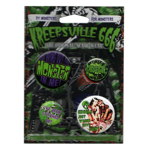 Ghoul Monster Badge Set