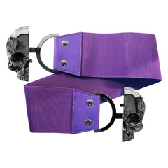 Elastic Waist Belt Skull Purple