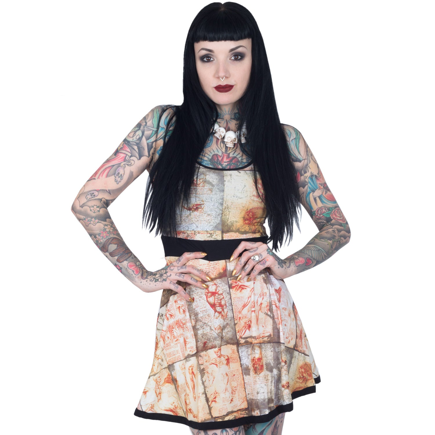 kreepsville 666 anatomy notes penny dress – Kreepsville 666