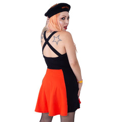 Jack O Latern Pumpkin Pinafore Dress