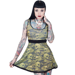 Skull Pile Penny Dress Natural