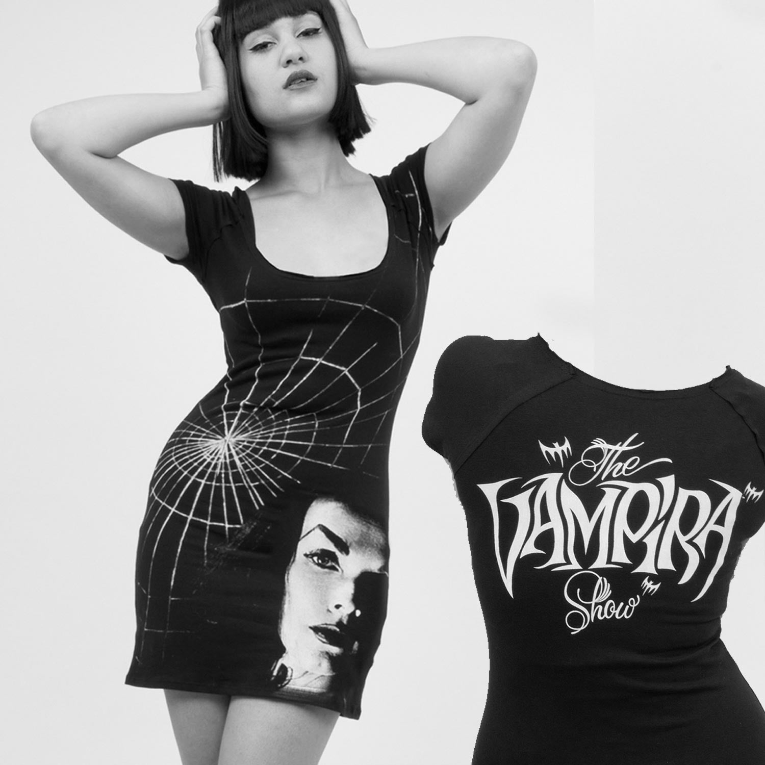 Vampira Shadow Face Tunic Dress