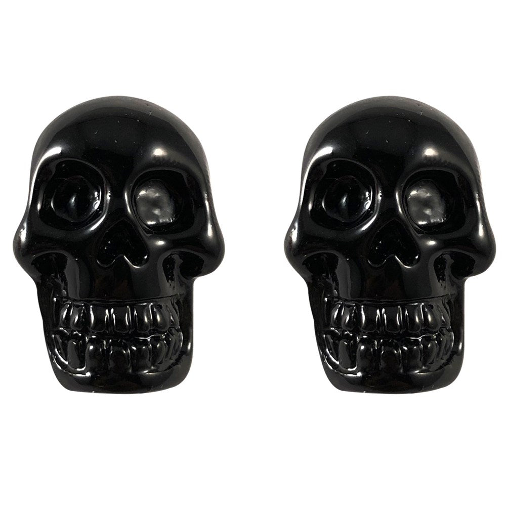 Skull Stud Black Earring