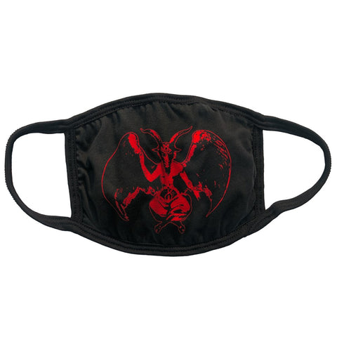 Baphomet Red Goat Face Mask