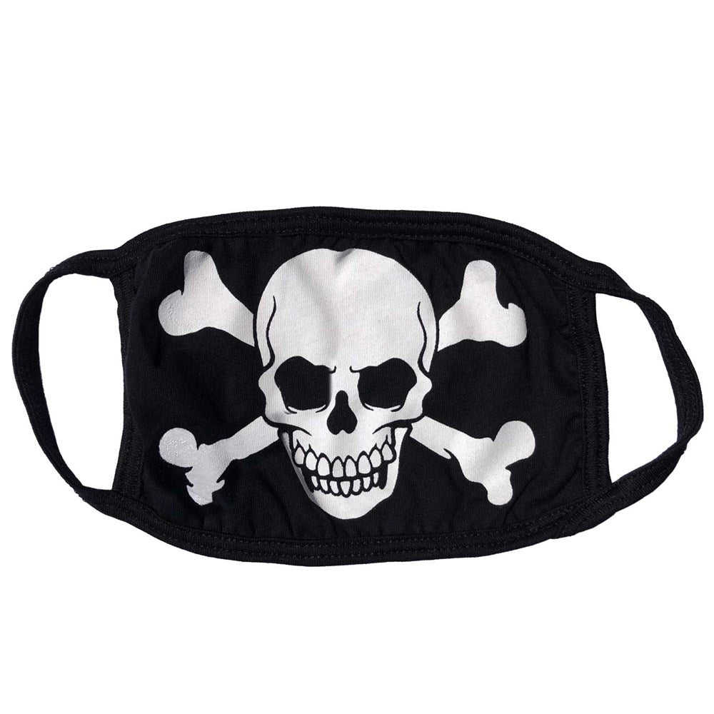 Skull Crossbones White Face Mask