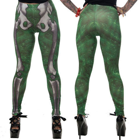 Skele-Bone Leggings Slime