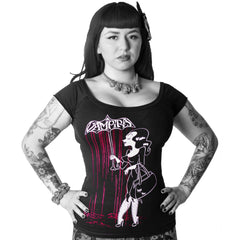 Vampira Blood Shower Shoulder Top