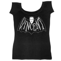 Vincent Price Devil Bat Shoulder Top
