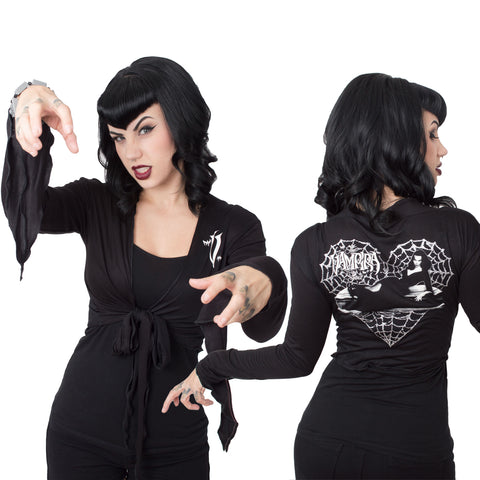 Vampira Web Heart Tie Top