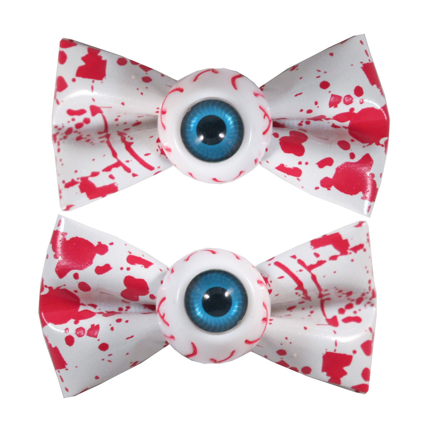 Eyeball Hairbow Slides Blood Splat White