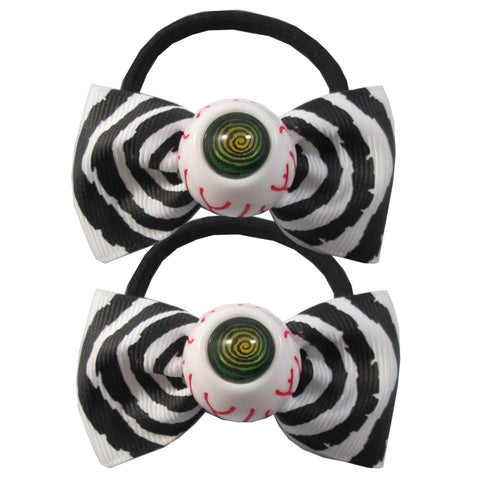 Hypno Eyeball Hairbow Bands Blk/Wht