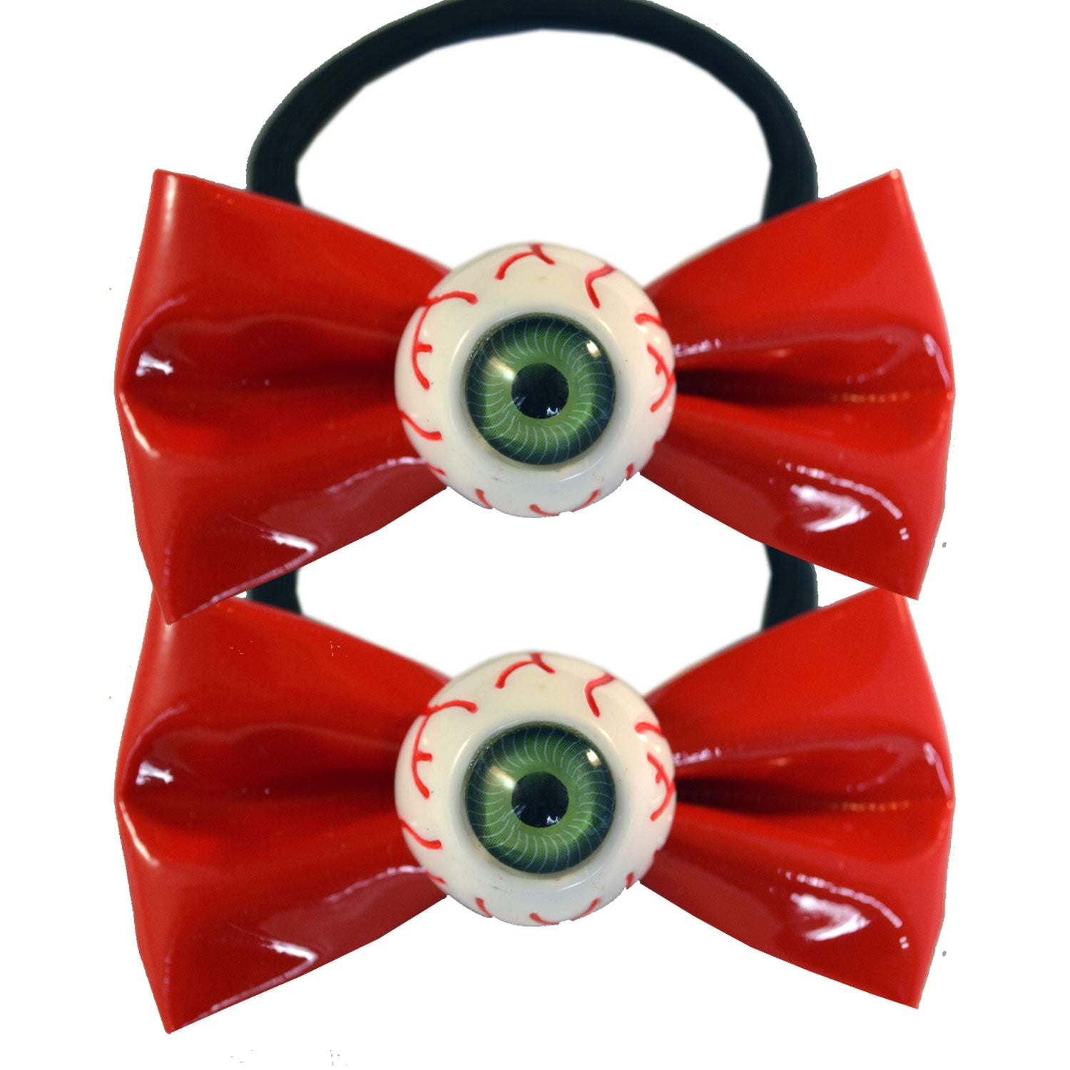 Eyeball Hairbow Bands Red