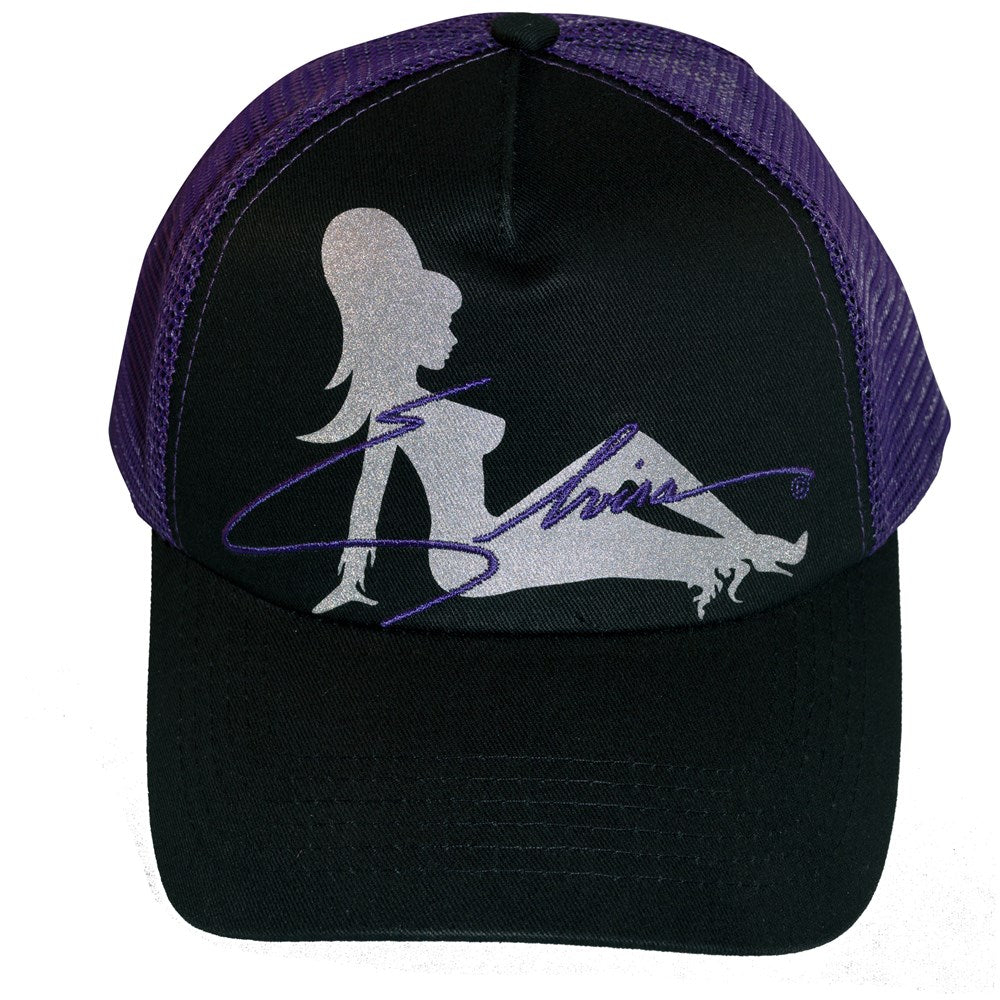 Elvira Trucker Girl Purple Hat