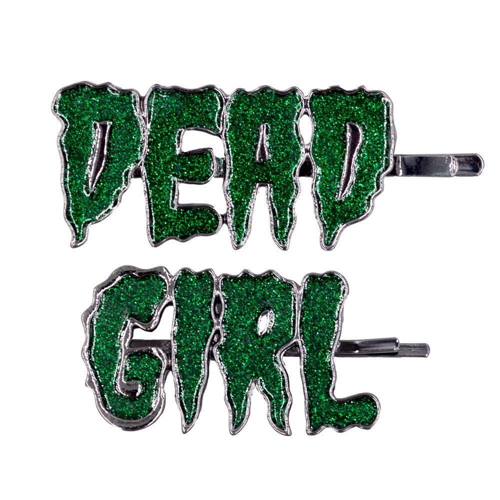 Dead Girl Text Hair Slides