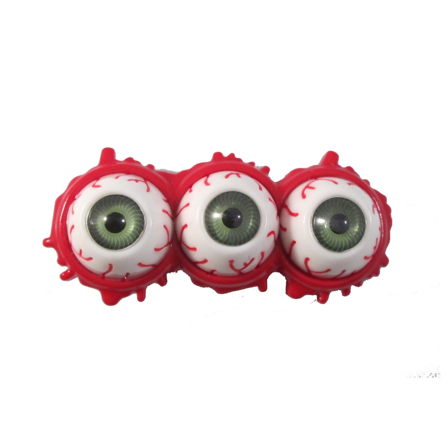 Triple Eyeball Splatter Slide Green