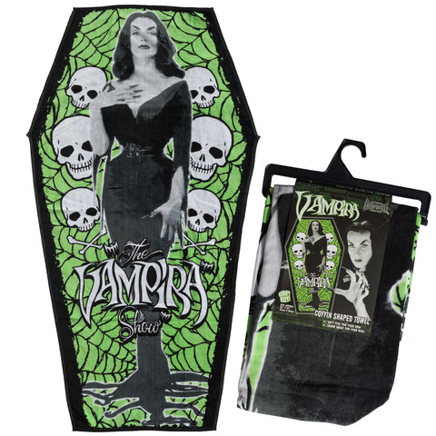 Vampira Coffin Beach Towel