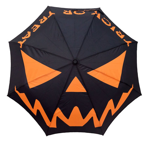 Skull Handle Trick Or Treat Umbrella