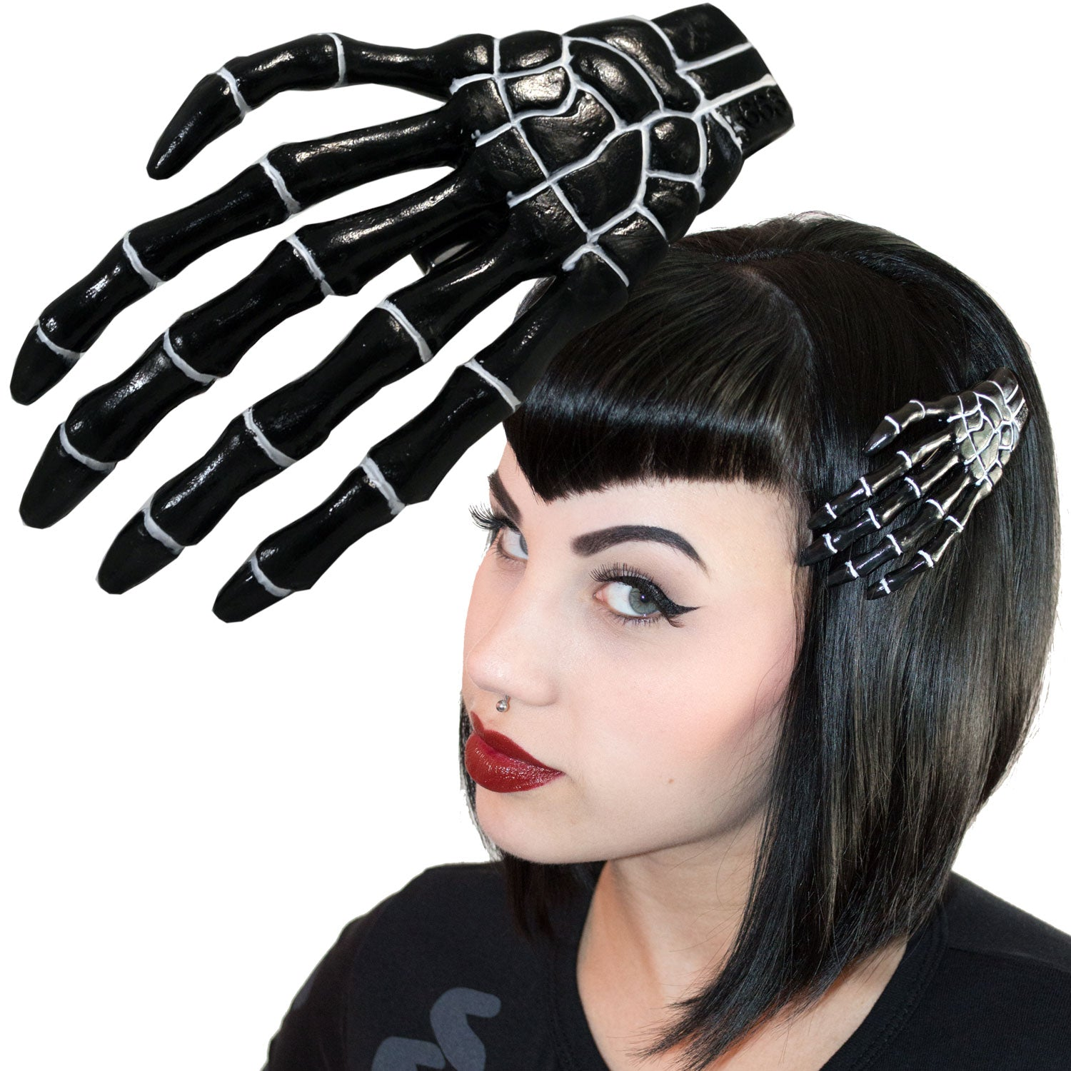 XL Skeleton Bone Hand  Slide Black