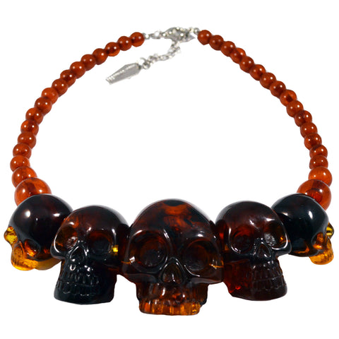 Skull Collection Necklace Amber