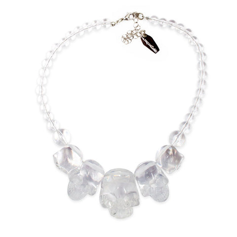 Skull Collection Necklace Crystal Clear