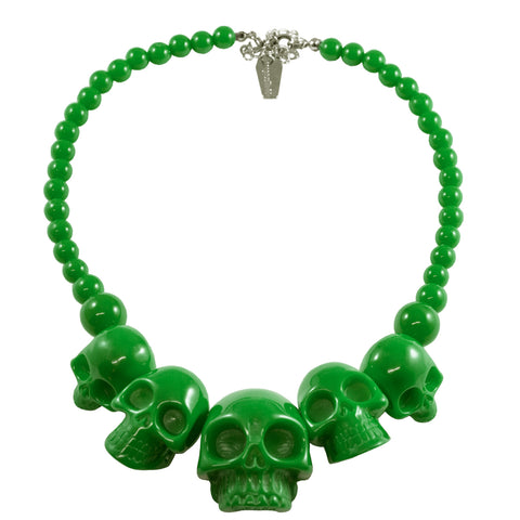 Skull Collection Necklace Green