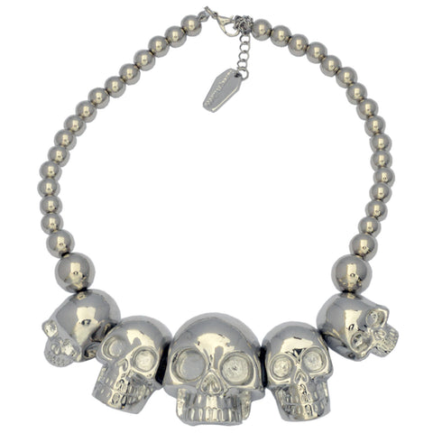 Skull Collection Necklace Metallic Silver