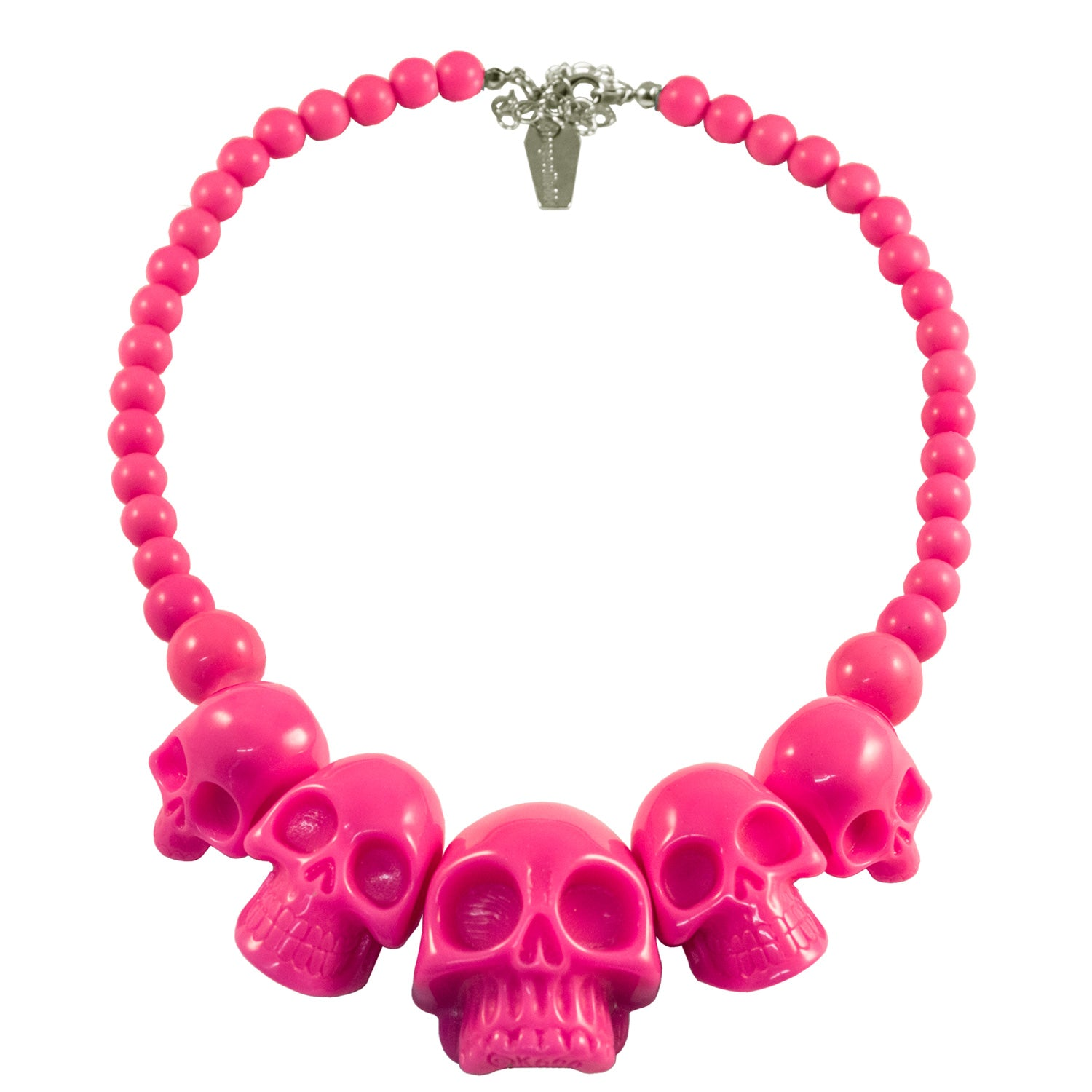 Skull Collection Necklace Pink