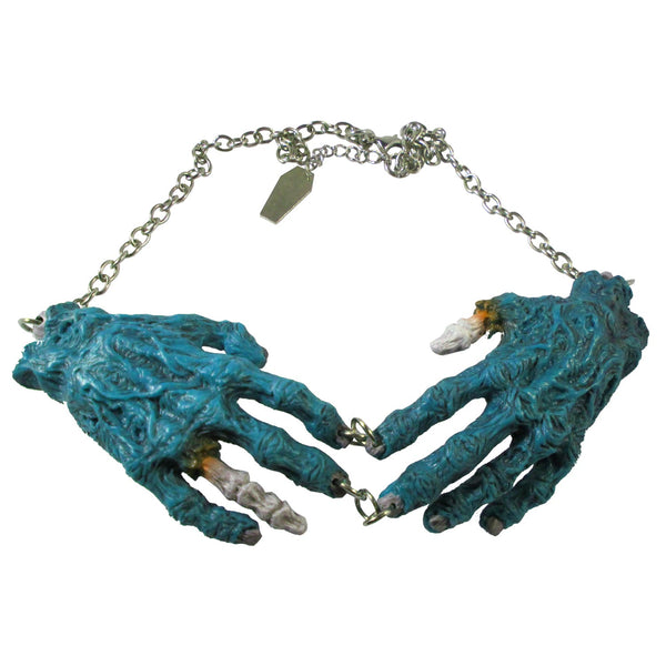 Natural Zombie Hands Necklace
