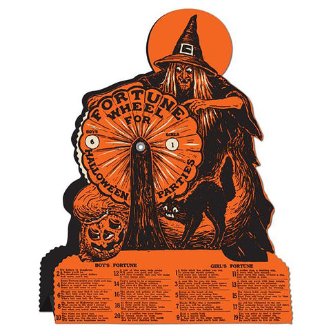 Vintage Halloween Witch Fortune Wheel