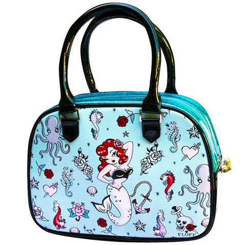 Fluff Molly Mermaid Bowler Purse Bag