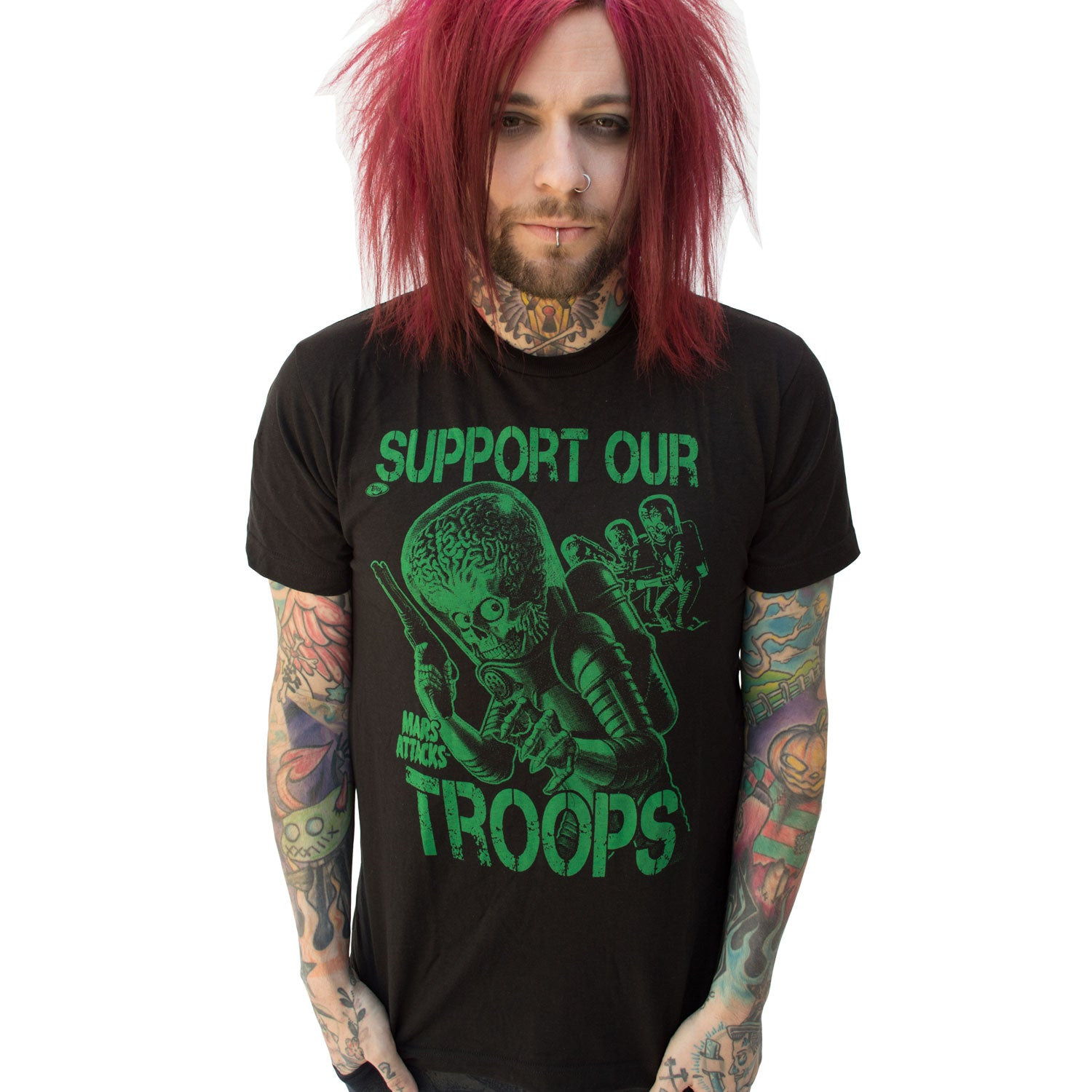 Mars Attacks Support Our Troops Tshirt