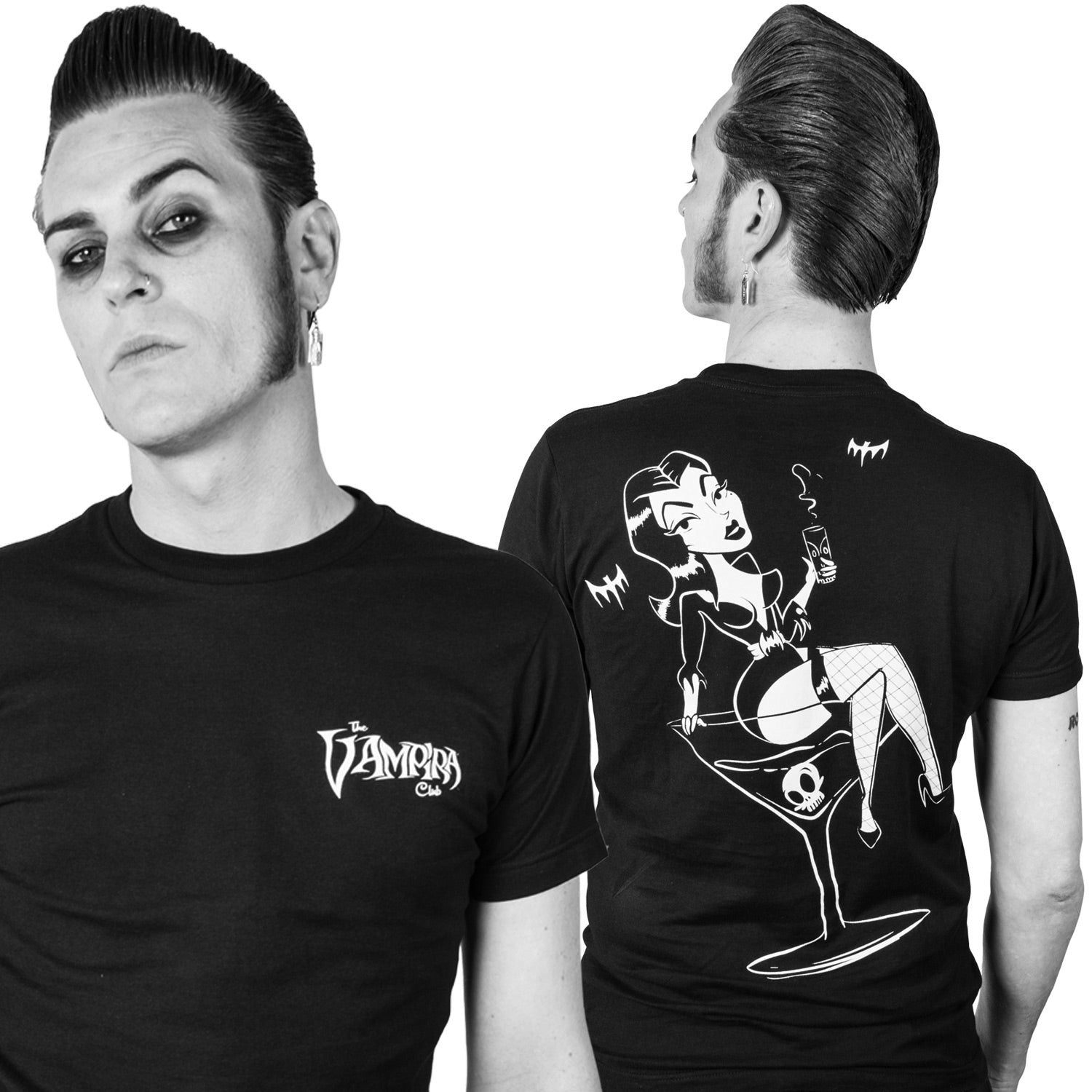 Vampira Cocktail Club Mens T-shirt