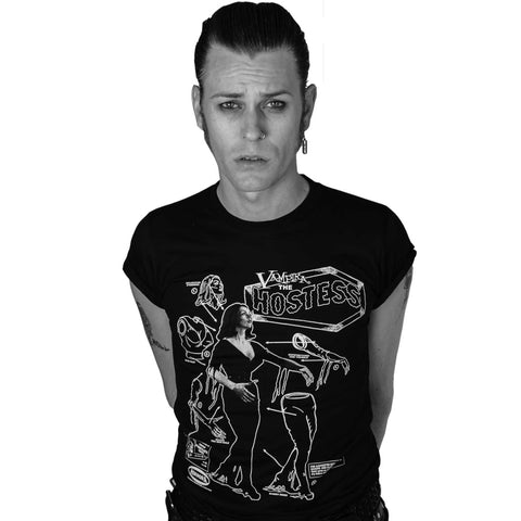 Vampira Model Kit Mens T-shirt