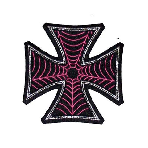 Web Cross Pink Patch