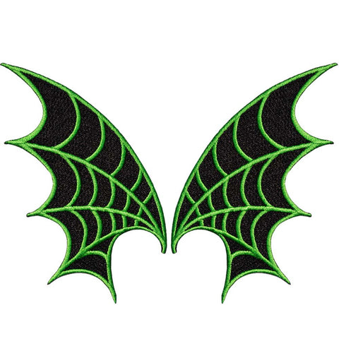 Web Wings Patch Pair Green