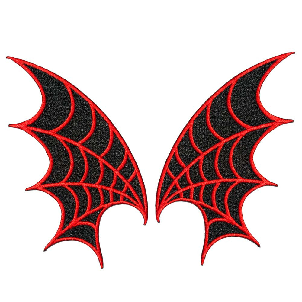 Web Wings Patch Pair Red