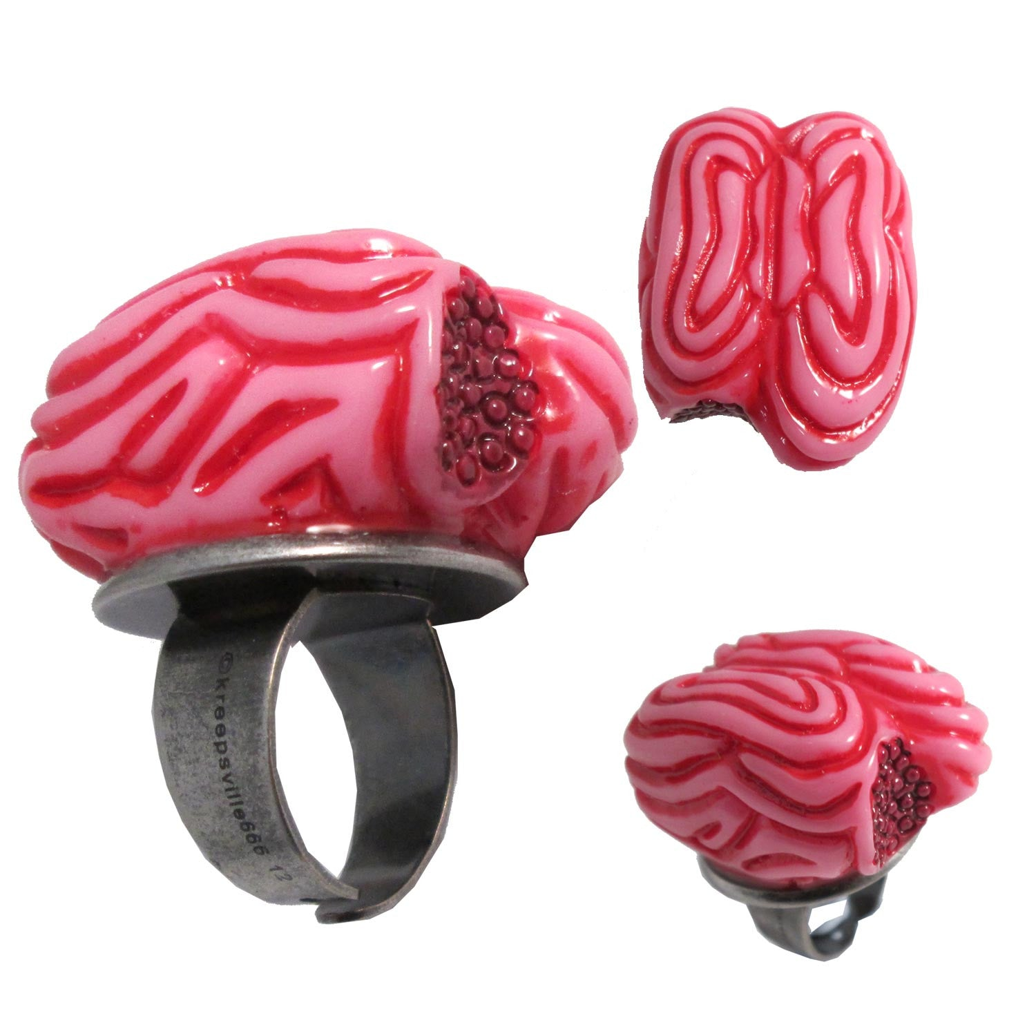 Pink Zombie Brain Ring