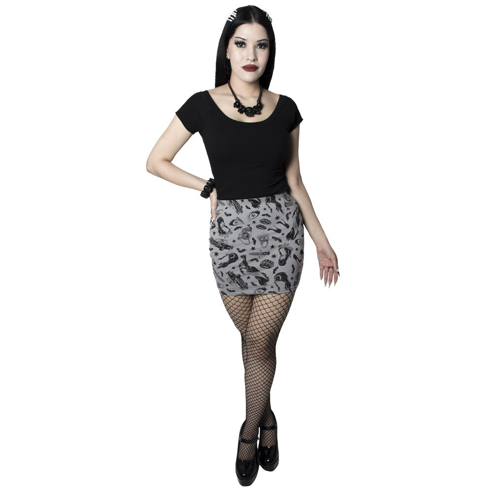 Elvira Comic Icons Mini Skirt