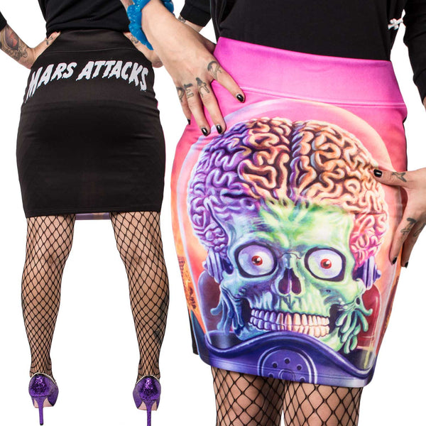 Mars Attacks Full Battle Pencil Skirt