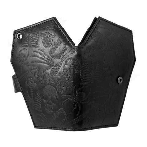 Embossed Skull Coffin Wallet