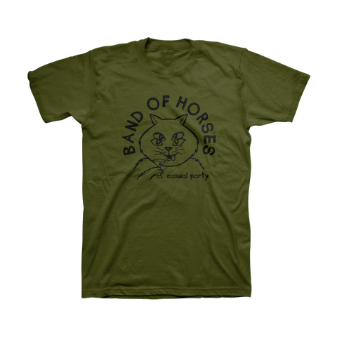 Casual Cat Unisex Tee (Olive)