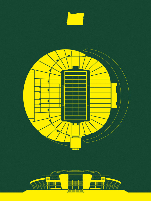 Stadium Series: Autzen Stadium Screenprint Preorder