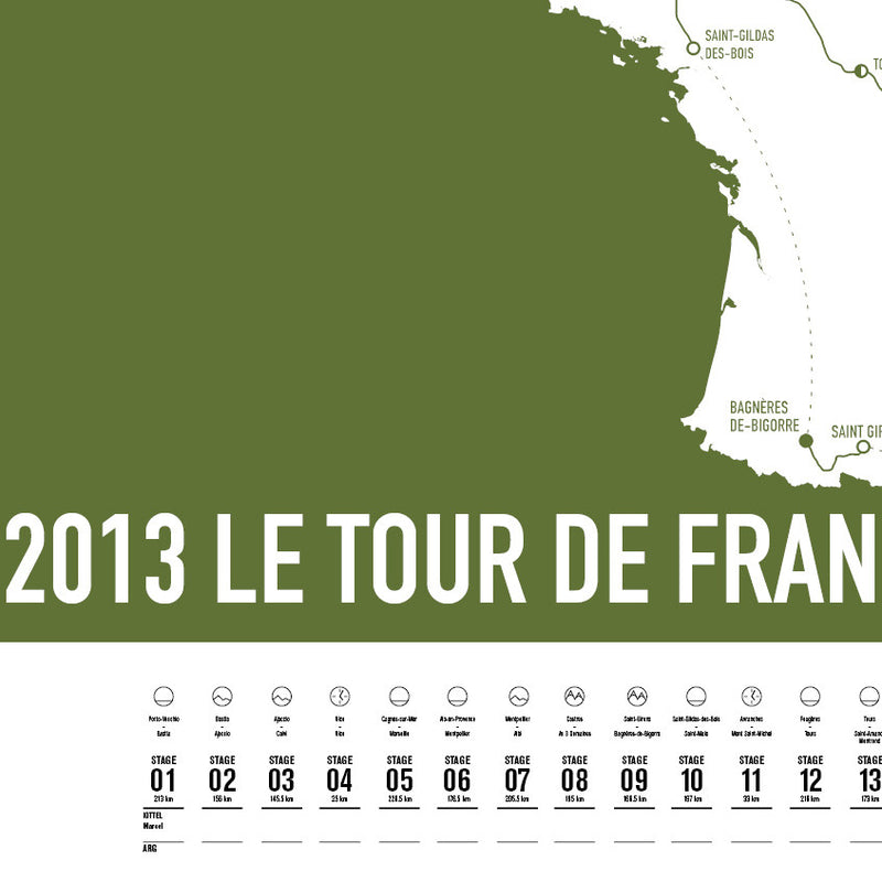 2013 Tour de France Screen Print