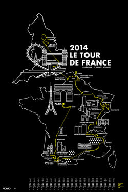 2014 Tour de France Screen Print