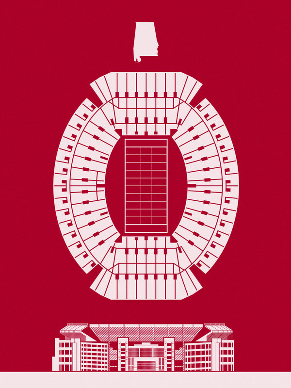 Bryant-Denny Stadium Screenprint